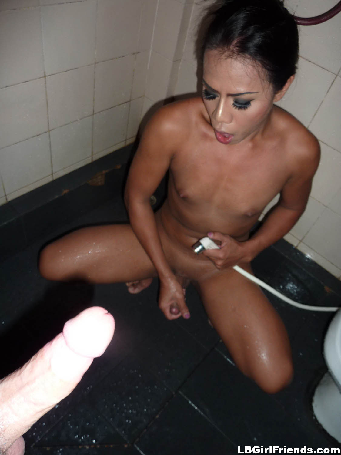 asian shemale condom - Ladyboy girlfriend fucked without condom