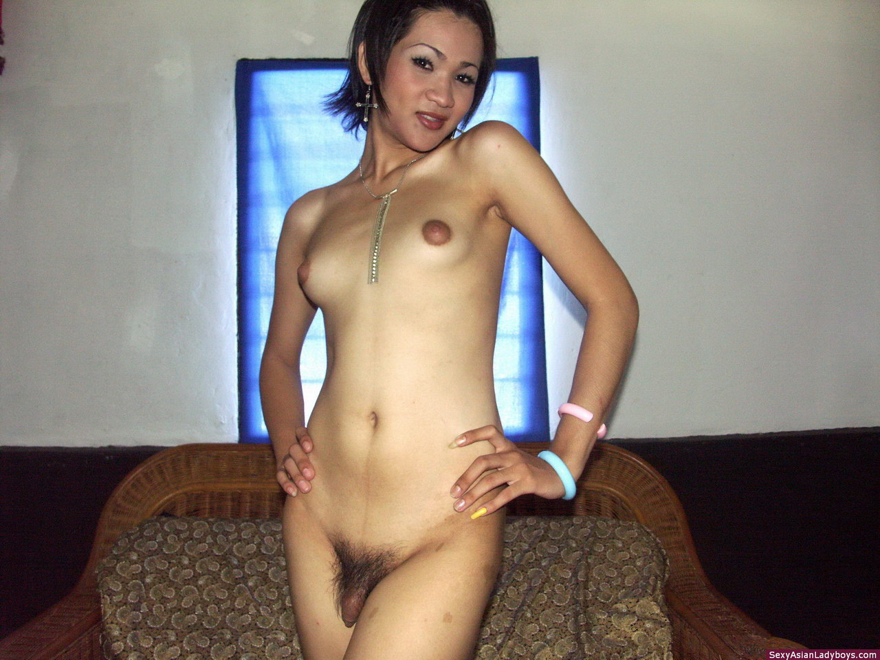 A shemale posing nude