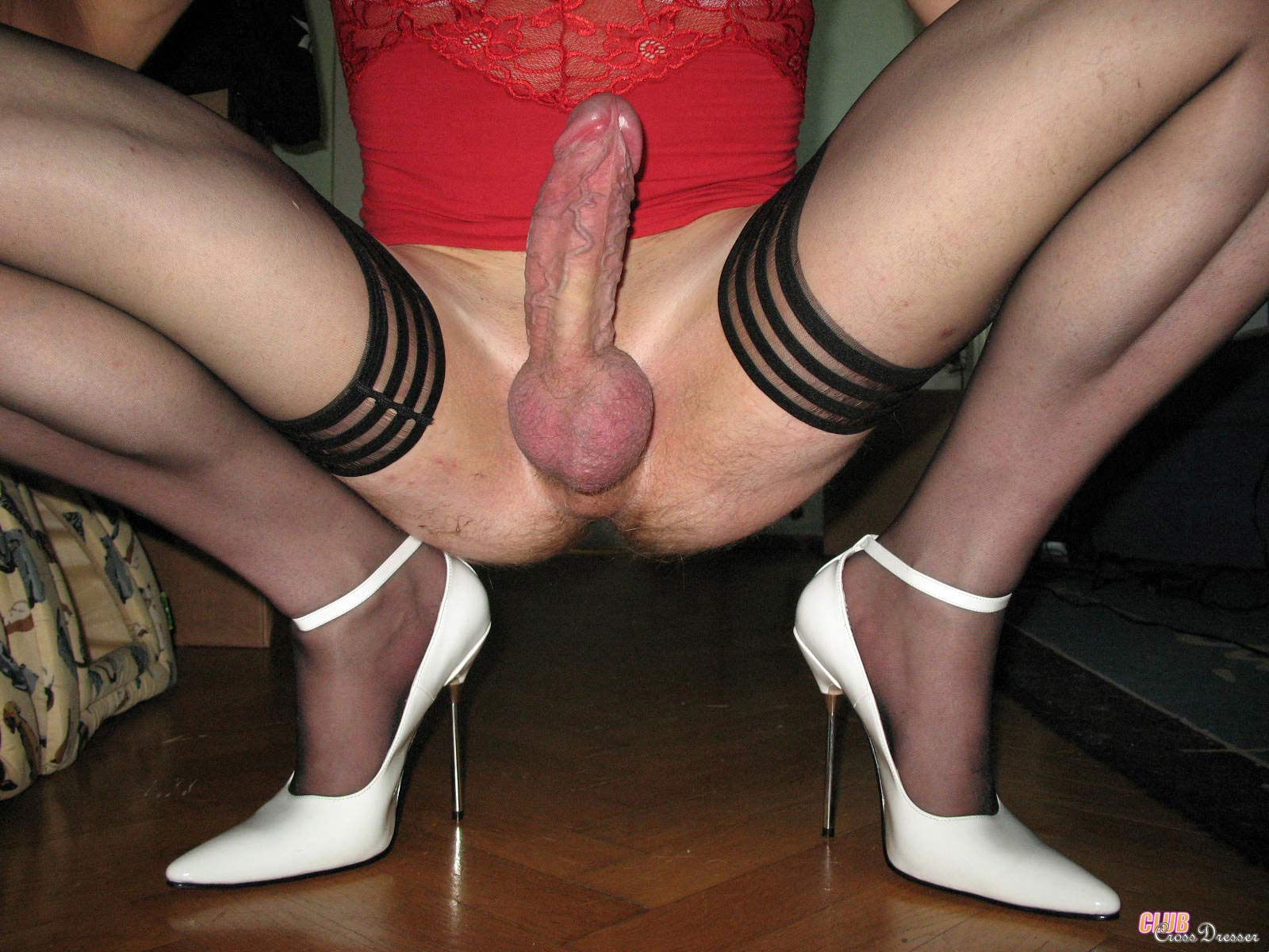 Crossdresser huge cock