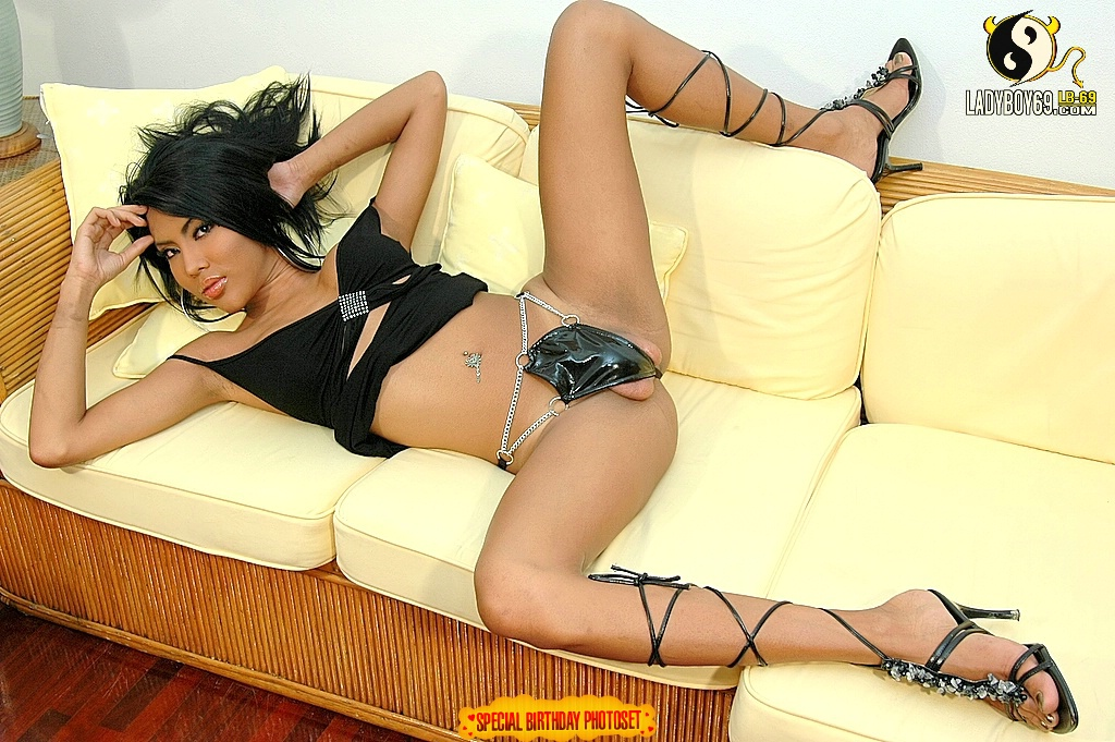 Shemale Areeya In Thong Spreading Legs & Jerking - photo 8 ...