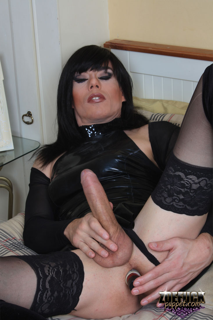 Guy amateur femboi in stockings jerking hard cock the best