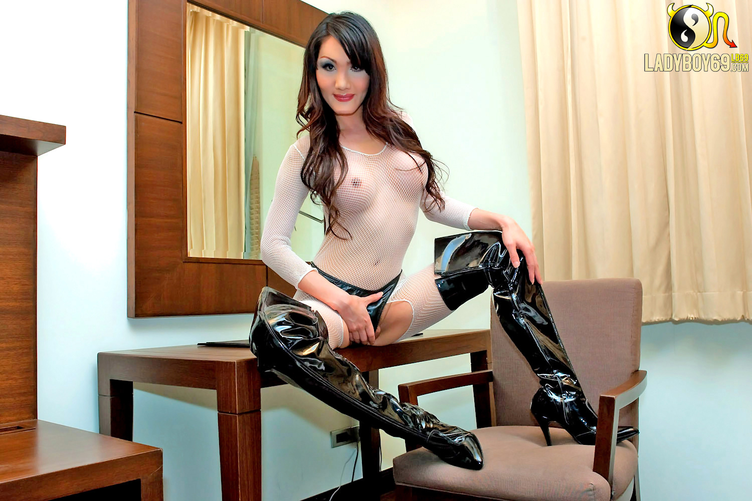 and boots stockings Asian