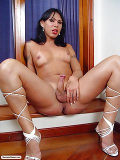Awesome Tranny Fabayana Undresses For The Camera1