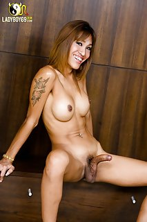 Licentious Transvestite Jerks And Receives Load Of Orgasm