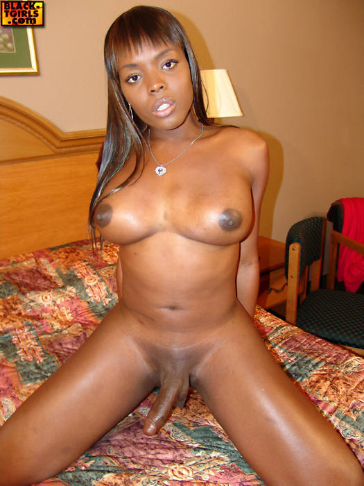 black shemale posing - Lena Posing For Black TGirl
