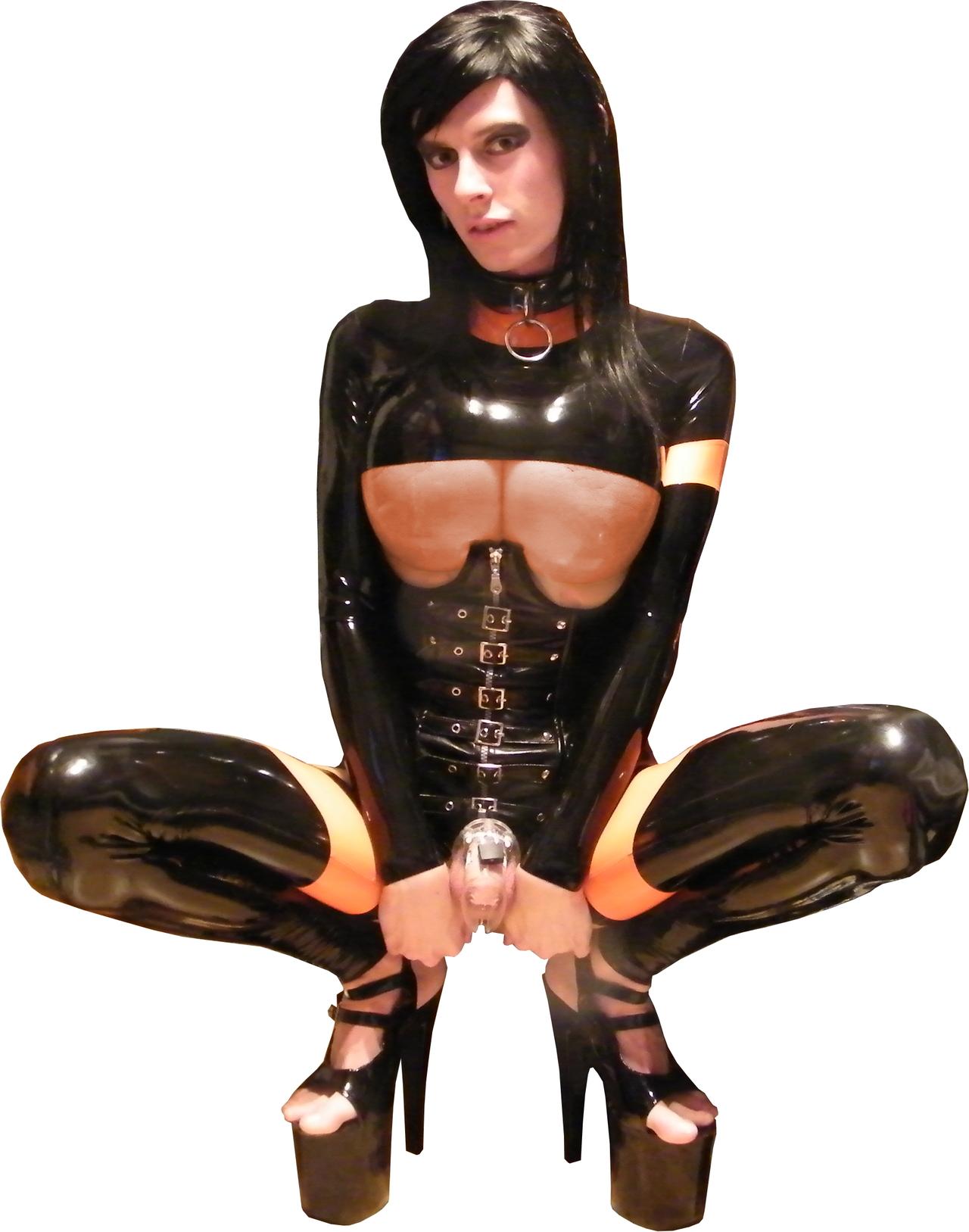 Latex sissy training