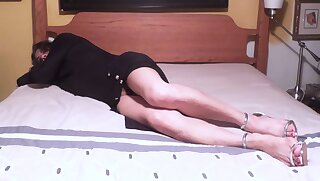 Sonja Joy:  Long Black Dress & Hot High Heels