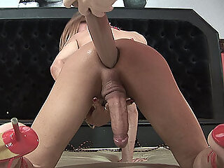 Shemale with dildo in ass