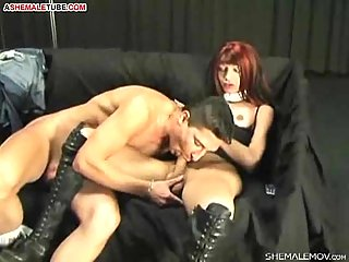 Busty Tranny Gets Hardcore Dicking