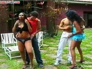 Brazilian Tranny Sex Party