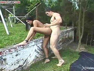 Lusty Latina Ladyboy's Part II