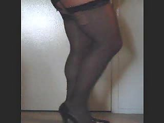 Fat Transsexual In Ripped Stockings