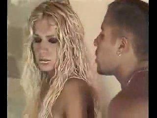 Blond ladyboy gets deep anal