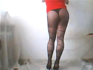 Solo Amateur Tranny In Pantyhose Teasing