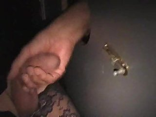 Amateur glory hole sucking after blowjob