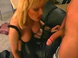 Shemale in lingerie doggy style ramming