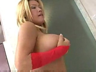 Busty Elen Silva In Red Stockings Fucking