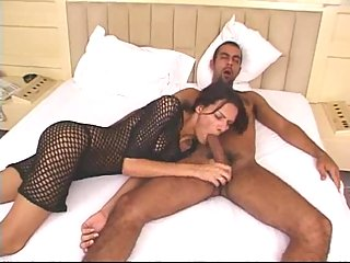 Cumshot on shemales tits