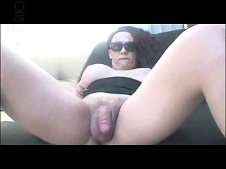 Dirty tranny shows her tool
