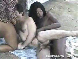 Black Shemales Sharing Juicy Guy Slits