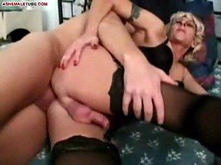 Granny Tranny and Rob Moore Sex