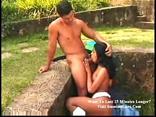 Outdoor shemale sex in a lonely place
