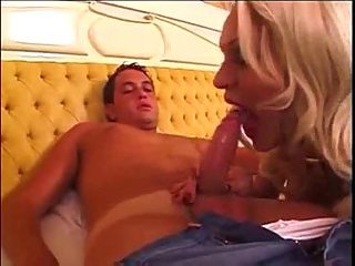 Titty vamp drills a chap with a passion