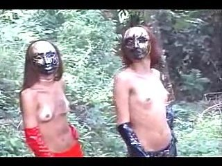 Guy Gets Fuck With Fetish Latex Twosome Outdoor