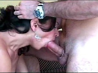 Small tits Tgirl gets dude dick in anus