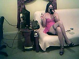Amateur tgirl smoking took