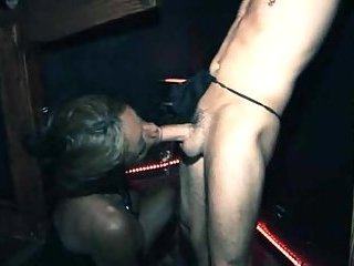 Domination hardcore with a black Tgirl