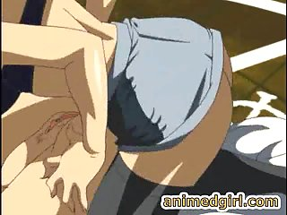 Dominant hentai shemale forces a busty slut