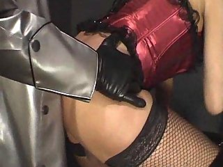 Two amazing crossdressers sucking and fucking motions