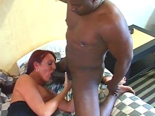 Black fucker for a dirty redhead shemale