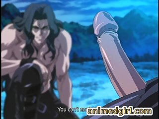 Shemale hentai gets sucked cock in the outdoors