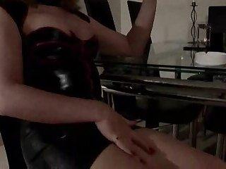 Shemale In Office Masturbation