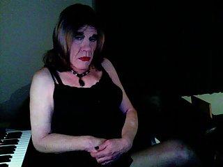Crossdresser In Home Playful Video