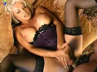 Two luxurious busty trannys fucking and cumshot
