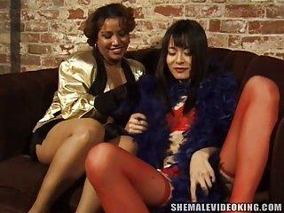 Fat busty ebony fucks passionately asian tranny
