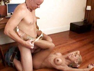 Man has deep throat for sucking trannys cock