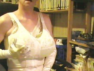 Balloon boobs of a dirty crossdresser