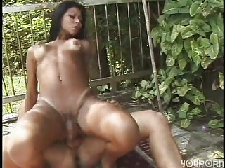Hot day with latina Tgirl