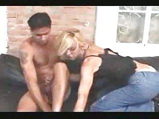 Blonde Tranny Licks Male Hole After Pounding