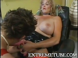 Mature Whores Play With A CD