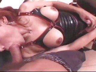Latex Shemale Mistress Bangs A Guy