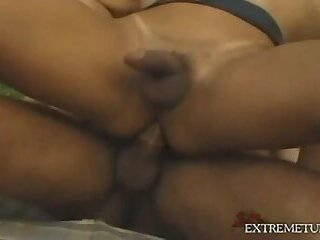 Lustful TS Outside Threesome