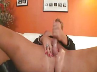 Shemale With Big Boobs Jerks Off
