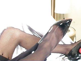Tranny In Fetish Clothes Fucked & Jizzed