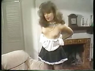 Vintage Tranny Maid Gets Fucked On A Couch