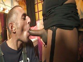Wet shemale hole got fucked